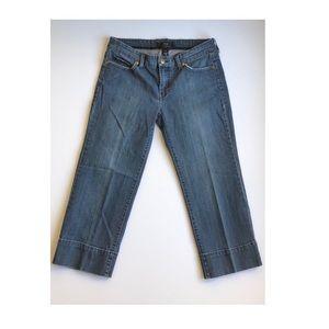 NOIR crop wide leg jean